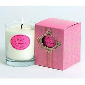 Ergo Soy Candle Paris Collection- 7Oz Candle In Clear Glass Grapefruit