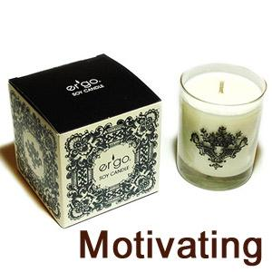 Ergo Soy Candle Enlighten - 7Oz Candle In Clear Glass- Motivating
