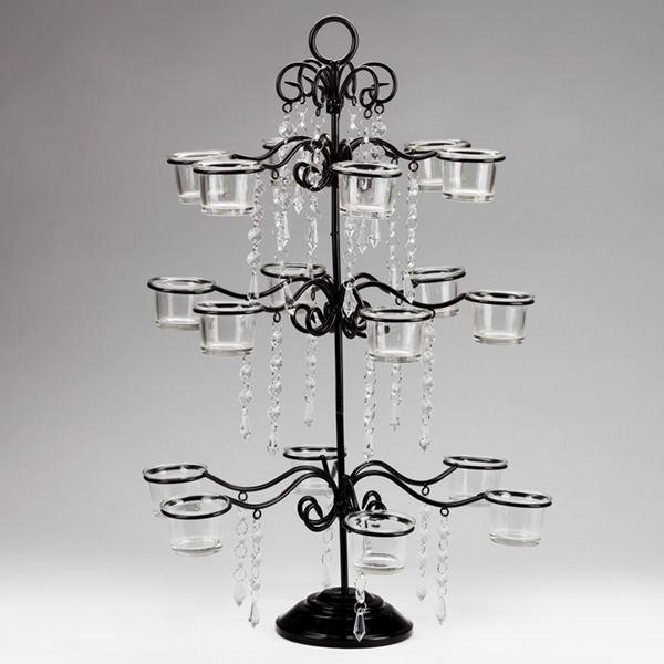 The Eighteen Cups Hanging Bead Fountain Tealight Candle