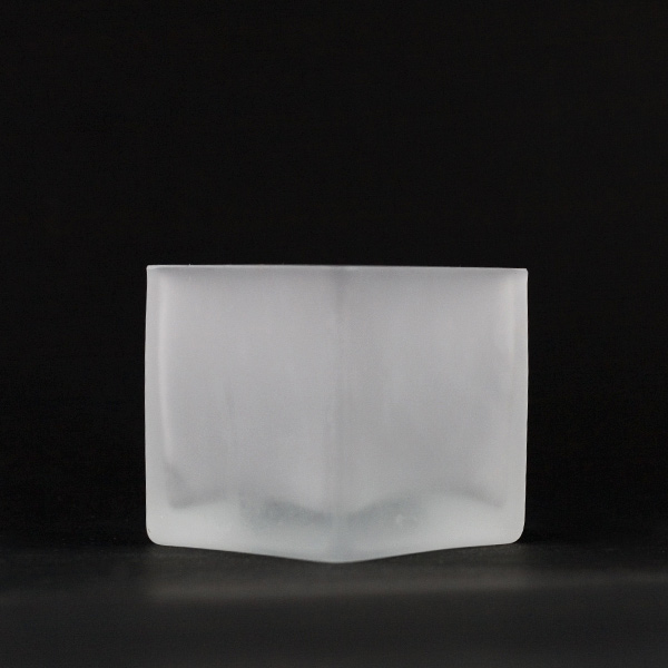 Square Tealight Frosted Glass Cup Square Glass Jar