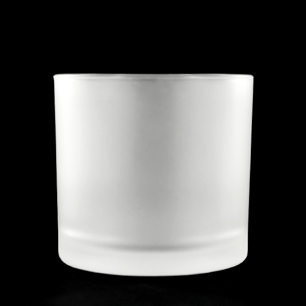 Frosted White Glass Cup