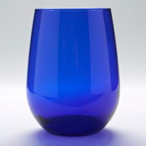 Wine Votive Glass Cup - Blue Colored Glass