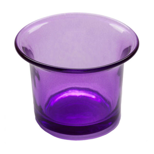 Flared Tealight Glass Cup Purple Glass