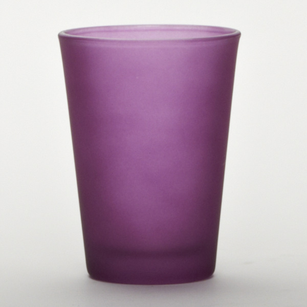 Purple Glass Cylinder Cup