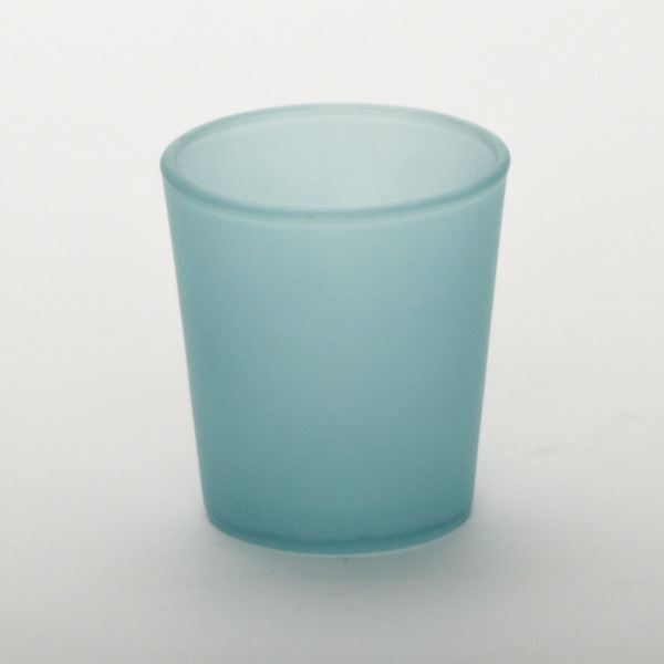Blue Turquoise Glass Cylinder Cup