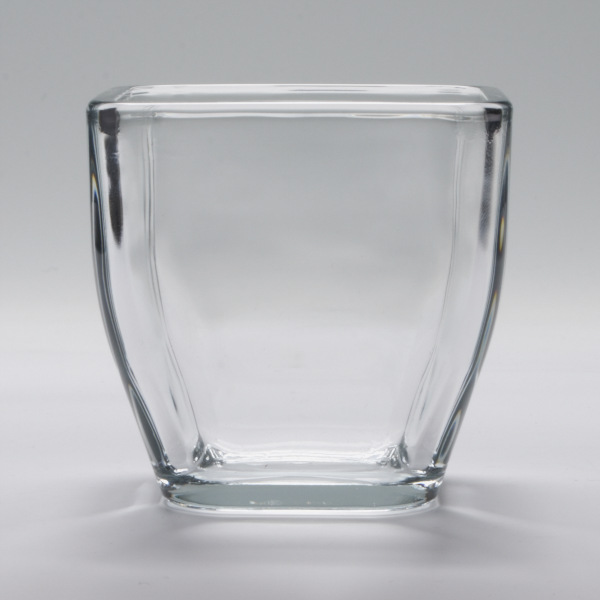 Small Tapered Square Glass Holder 8 Oz
