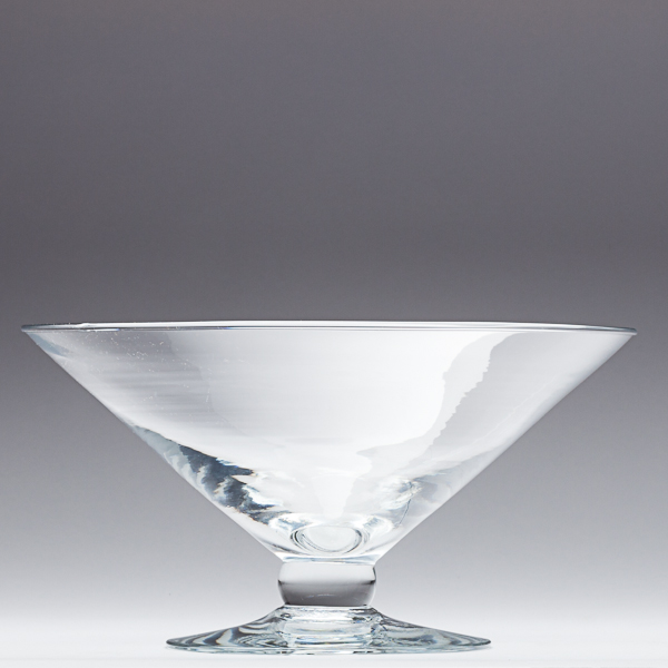 Libbey 9 Inch Footed Glass Bowl Floating Candle Bowl
