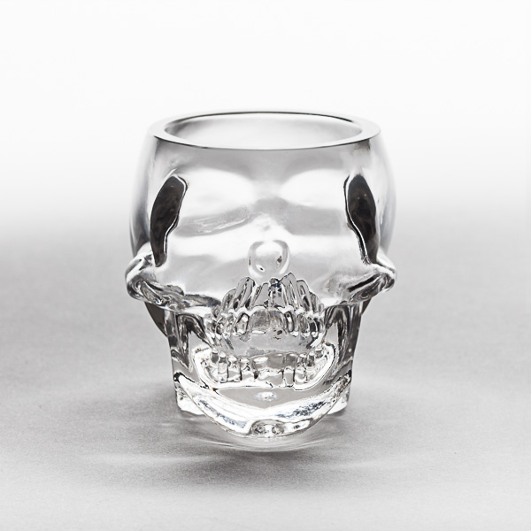 Skull Shaped Glass
