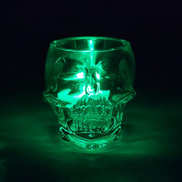 Skull Shaped Glass